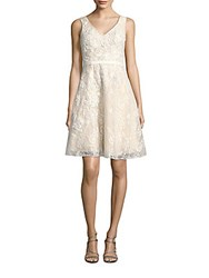 Basix Black Label Embellished Fit And Flare Dress Ivory
