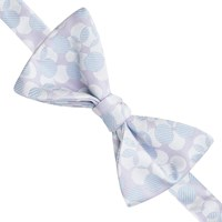 Thomas Pink Lely Spot Self Tie Silk Bow Tie Lilac Blue