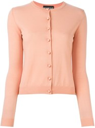 Boutique Moschino Crew Neck Cardigan Pink And Purple