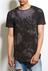 Forever 21 Entity Bleach Dye Cotton Tee Black Grey