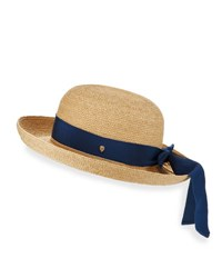 Helen Kaminski Newport Upturn Sun Hat Natural Blue