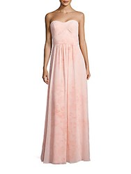 Erin By Erin Fetherston Floral Print Sweetheart Gown Heavenly Pink