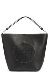 Tory Burch Perforated Logo Leather Hobo