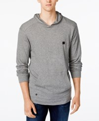 Tavik Men's Ronin Long Sleeve Hoodie T Shirt Heather Grey