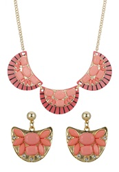 Anna Field Set Necklace Gold Apricot