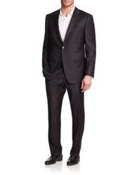 Saks Fifth Avenue Collection By Samuelsohn Solid Wool Suit Black