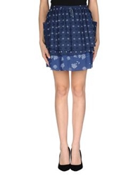 Band Of Outsiders Mini Skirts Dark Blue