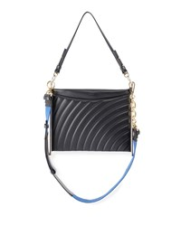 Chloe Roy Quilted Leather Clutch Bag Black