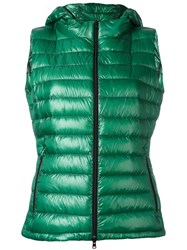 Herno Zipped Hooded Gilet Green