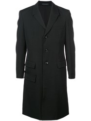Yohji Yamamoto Boxy Single Breasted Coat Black
