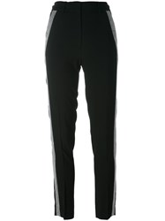Versus Studded Stripe Detailing Trousers Black