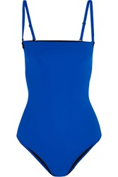 Alexander Wang Bonded Stretch Neoprene Swimsuit Blue