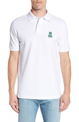 Psycho Bunny Alto Embroidered Pique Polo White