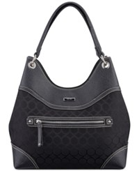 Nine West Jacquard Shoulder Bag Black Black