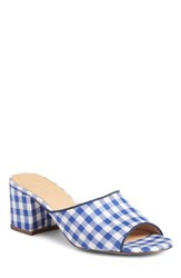 J.Crew All Day Mule Gingham Blue Fabric