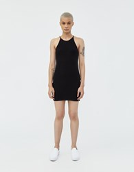 Which We Want Caroline Ribbed Dress Black