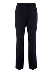 Gardeur City Straight Leg High Rise Trousers Navy