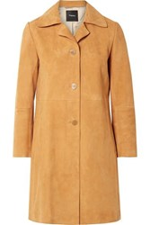 Theory Suede Coat Marigold