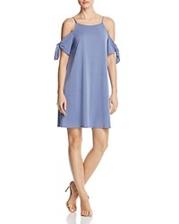 Aqua Cold Shoulder Tie Sleeve Dress 100 Exclusive Blue