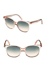 Celine 'S 57Mm Square Sunglasses Baby Pink Turquoise Baby Pink Turquoise