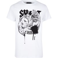 Systvm River Island Mens White Coin Print T Shirt