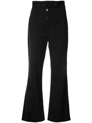 Proenza Schouler Cropped Flared Trousers Black