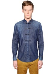 Dsquared2 Stretch Denim Tuxedo Shirt