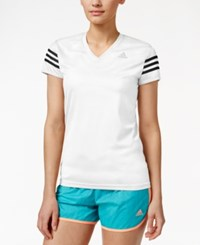 Adidas Cap Sleeve Climalite Top White