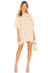Free People Summer Nights Striped Dress Yellow