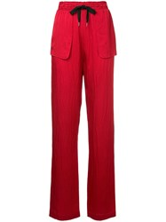 Roland Mouret Patch Pocket Trousers Red