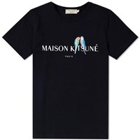 Maison Kitsune X End. Lovebirds Logo Tee Black
