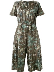 Muveil Jungle Print Jumpsuit Green