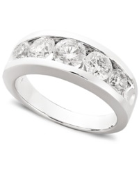 Macy's Diamond Anniversary Band Ring In 14K White Gold 1 Ct. T.W.