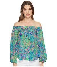Lilly Pulitzer Adira Top Pink Sunset Coco Breeze Clothing Multi