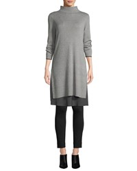 Nic Zoe Ready To Go Layered Hem Dress Petite Frost
