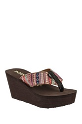 Rocket Dog Diver Platform Wedge Sandal Beige