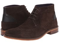 Ted Baker Pericop 2 Dark Brown Black Suede Men's Lace Up Boots