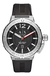 Armani Exchange Ax Silicone Strap Watch 48Mm