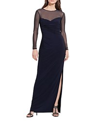 Ralph Lauren Illusion Detail Gown Lighthouse Navy