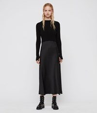 Allsaints Karla Slip Dress Black