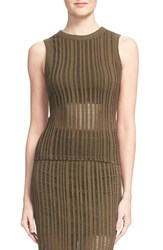 Alexander Wang Women's T By Ladder Jacquard Tank Military