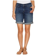Nydj Petite Jessica Boyfriend Shorts In Oak Hill Oak Hill Women's Shorts Blue