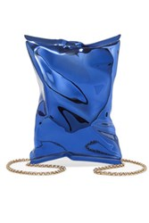 Anya Hindmarch Crisp Packet Metal Shoulder Bag Royal Blue