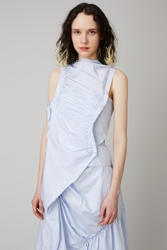 J.W.Anderson Ruched Tank Blue White