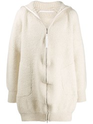 Julius Oversized Hooded Coat Neutrals