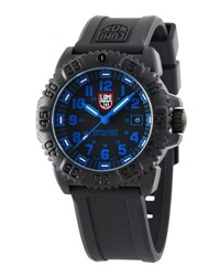 Luminox 44Mm Navy Seal 3050 Watch Black Blue