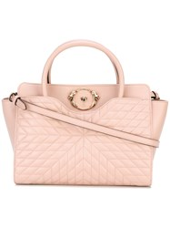 Roberto Cavalli Quilted Tote Pink Purple