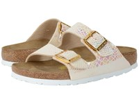 Birkenstock Arizona Shiny Snake Cream Birko Flor Women's Dress Sandals White