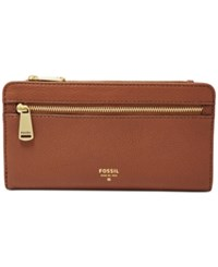 Fossil Preston Leather Wallet Brown