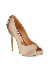 Badgley Mischka Kiara Platforms Stilettos Taupe